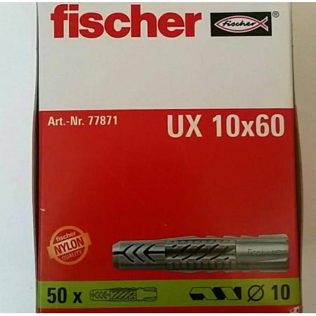 TACO FISCHER UX 10X60 CAJA 50 UNDS