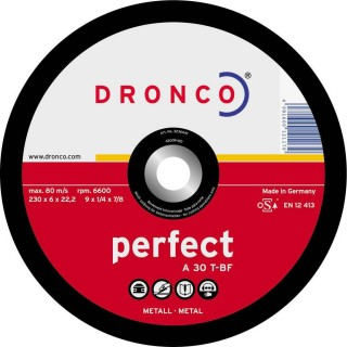 DISCO DE DESBASTE PARA METAL PERFECT 115*6*22,23
