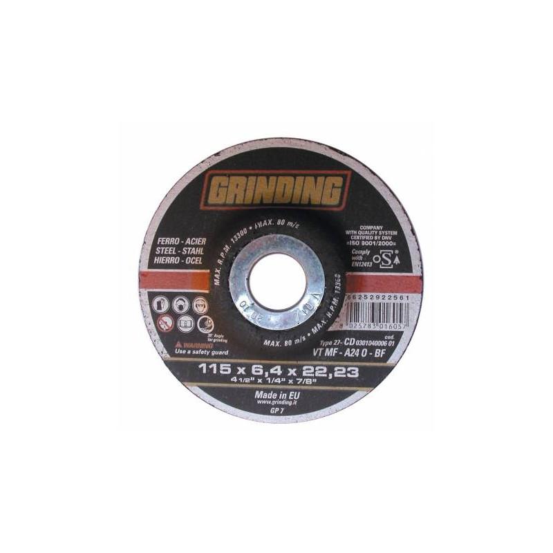 DISCO DE DESBASTE PARA METAL 115*6,4*22