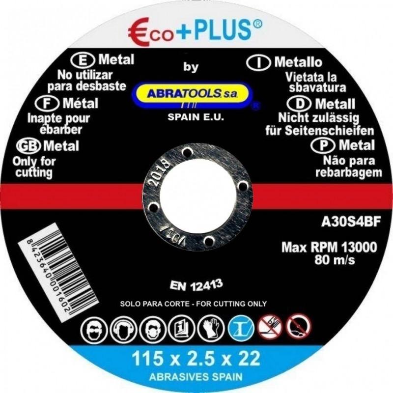 DISCO DE CORTE METAL 230*2.5*22 mm