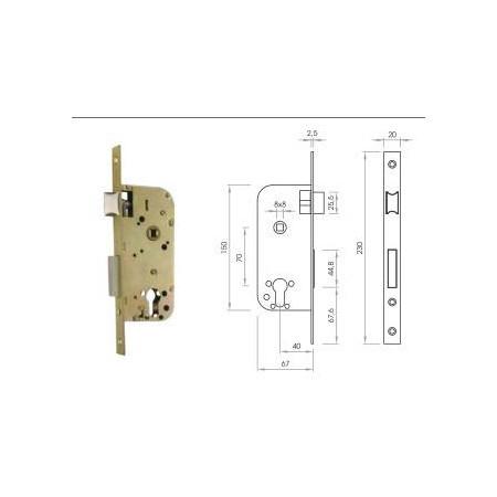 Cerradura Embutir E40 C/Bom 30+30, B70 SN