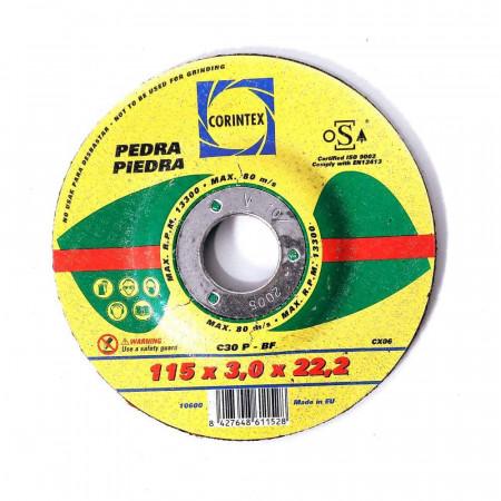 DISCO DE CORTE PARA PIEDRA C30P-BF 115*3*22,2