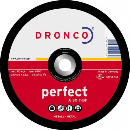 DISCO DE DESBASTE PARA METAL PERFECT 180*6*22,23