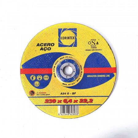 DISCO DE DESBASTE ACERO 230*6,4*22,2