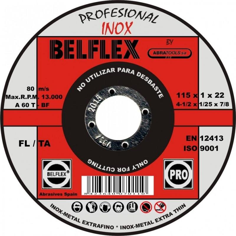 DISCO DE CORTE INOX 115*1*22 BELFLEX